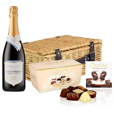 Nyetimber Classic Cuvee English Sparkling Wine 75cl And Chocolates Hamper