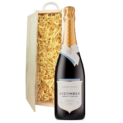 Nyetimber Classic Cuvee English Sparkling Wine 75cl In Pine Gift Box