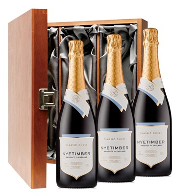 Nyetimber Classic Cuvee English Sparkling Wine 75cl Three Bottle Luxury Gift Box