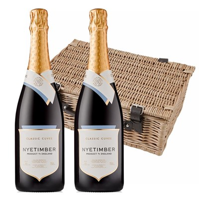 Nyetimber Classic Cuvee English Sparkling Wine 75cl Twin Hamper (2x75cl)