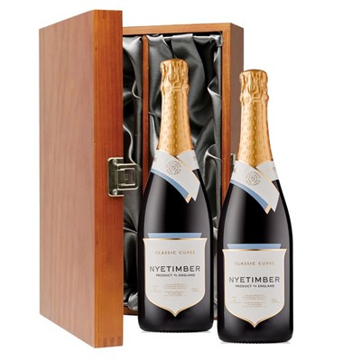 Nyetimber Classic Cuvee English Sparkling Wine 75cl Twin Luxury Gift Boxed (2x75cl)