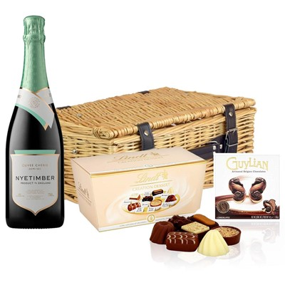 Nyetimber Demi-Sec English Sparkling Wine 75cl And Chocolates Hamper