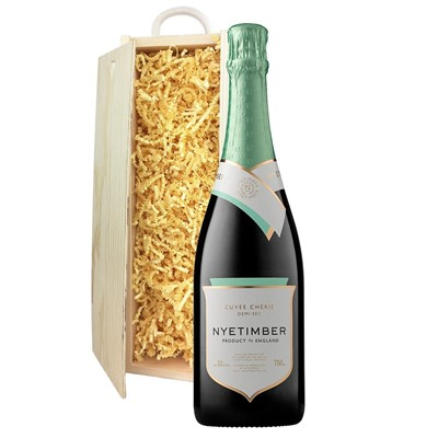 Nyetimber Demi-Sec English Sparkling Wine 75cl In Pine Gift Box