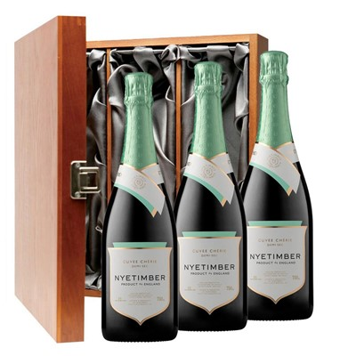 Nyetimber Demi-Sec English Sparkling Wine 75cl Three Bottle Luxury Gift Box