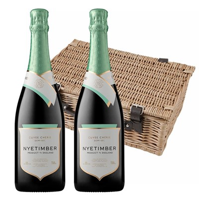 Nyetimber Demi-Sec English Sparkling Wine 75cl Twin Hamper (2x75cl)