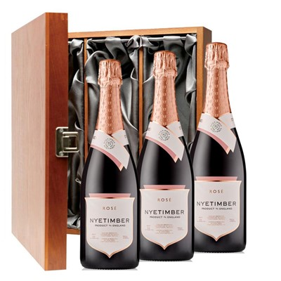 Nyetimber Rose English Sparkling Wine 75cl Three Bottle Luxury Gift Box