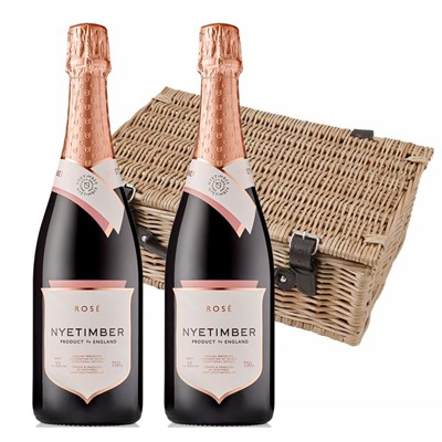 Nyetimber Rose English Sparkling Wine 75cl Twin Hamper (2x75cl)