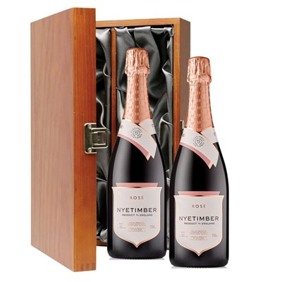 Nyetimber Rose English Sparkling Wine 75cl Twin Luxury Gift Boxed (2x75cl)