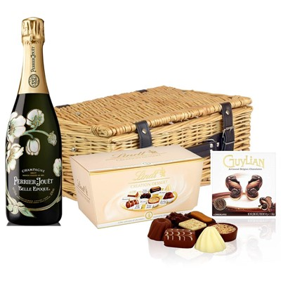 Perrier Jouet Belle Epoque Brut 2012 Vintage Champagne 75cl And Chocolates Hamper