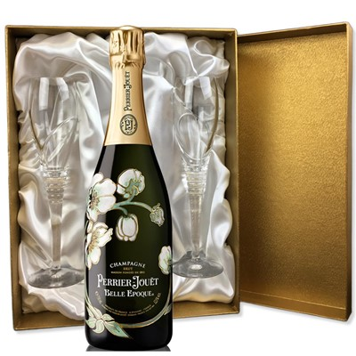 Perrier Jouet Belle Epoque Brut 2012 Vintage Champagne 75cl in Gold Presentation Set With Flutes