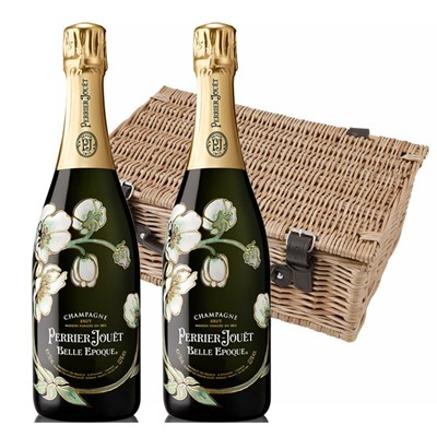 Perrier Jouet Belle Epoque Brut 2012 Vintage Champagne 75cl Twin Hamper (2x75cl)