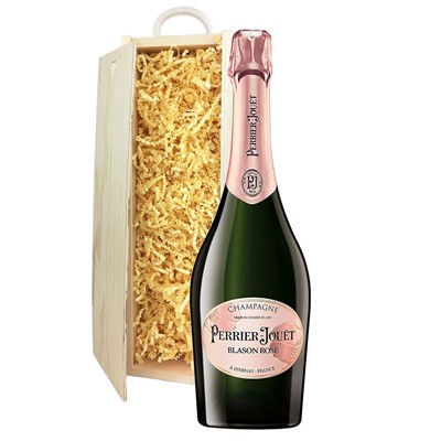 Perrier Jouet Blason Rose Champagne 75cl In Pine Gift Box