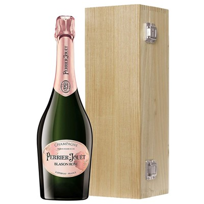 Perrier Jouet Blason Rose Champagne 75cl Oak Luxury Gift Boxed