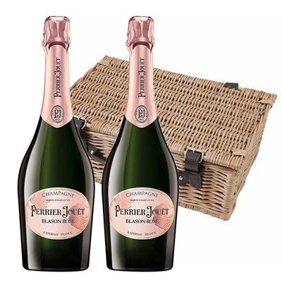 Perrier Jouet Blason Rose Champagne 75cl Twin Hamper (2x75cl)