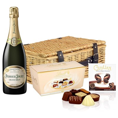 Perrier Jouet Grand Brut Champagne 75cl And Chocolates Hamper