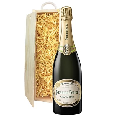 Perrier Jouet Grand Brut Champagne 75cl In Pine Gift Box