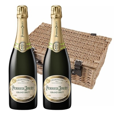 Perrier Jouet Grand Brut Champagne 75cl Twin Hamper (2x75cl)