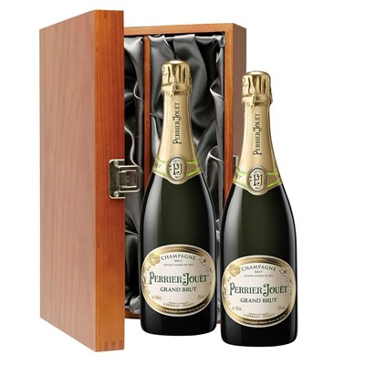 Perrier Jouet Grand Brut Champagne 75cl Twin Luxury Gift Boxed (2x75cl)