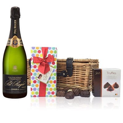Pol Roger 2009 Brut Vintage Champagne 75cl And Chocolates Hamper