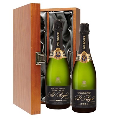 Pol Roger 2009 Brut Vintage Champagne 75cl Twin Luxury Gift Boxed (2x75cl)