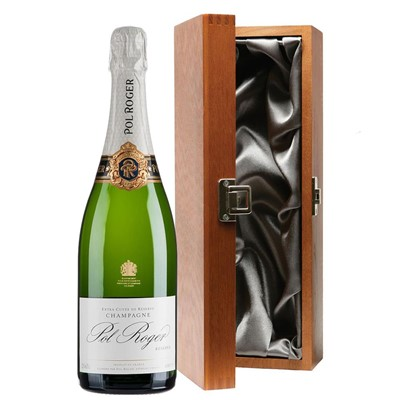 Pol Roger Brut Reserve Champagne 75cl in Luxury Gift Box