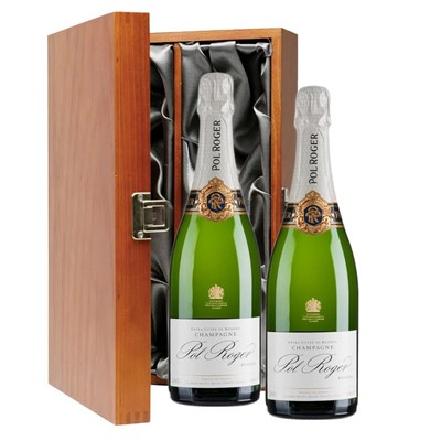 Pol Roger Brut Reserve Champagne 75cl Twin Luxury Gift Boxed (2x75cl)
