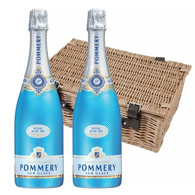 Pommery Blue Sky Champagne 75cl Twin Hamper (2x75cl)