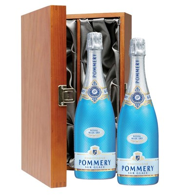 Pommery Blue Sky Champagne 75cl Twin Luxury Gift Boxed (2x75cl)
