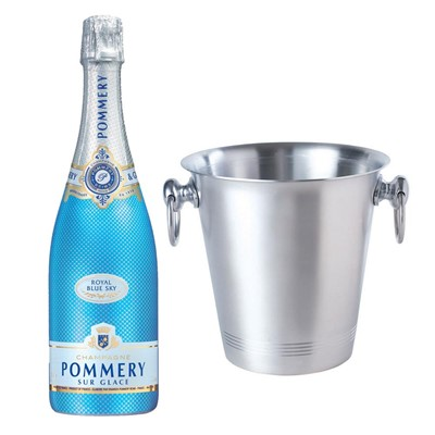 Pommery Blue Sky Champagne 75cl With Ice Bucket Set