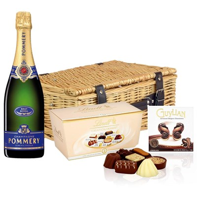 Pommery Brut Royal Champagne 75cl And Chocolates Hamper