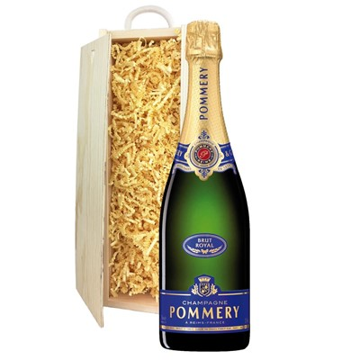 Pommery Brut Royal Champagne 75cl In Pine Gift Box