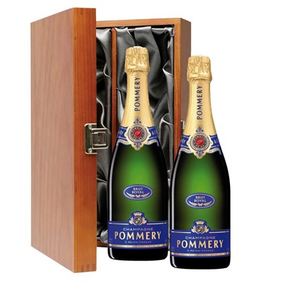 Pommery Brut Royal Champagne 75cl Twin Luxury Gift Boxed (2x75cl)