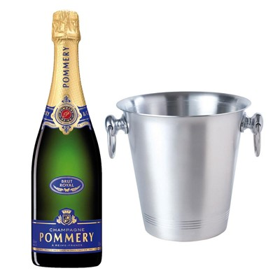 Pommery Brut Royal Champagne 75cl With Ice Bucket Set
