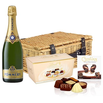 Pommery Grand Cru Vintage Champagne 75cl And Chocolates Hamper