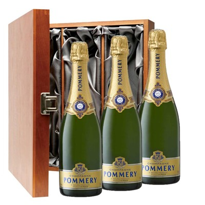 Pommery Grand Cru Vintage Champagne 75cl Three Bottle Luxury Gift Box