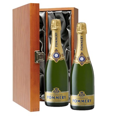 Pommery Grand Cru Vintage Champagne 75cl Twin Luxury Gift Boxed (2x75cl)