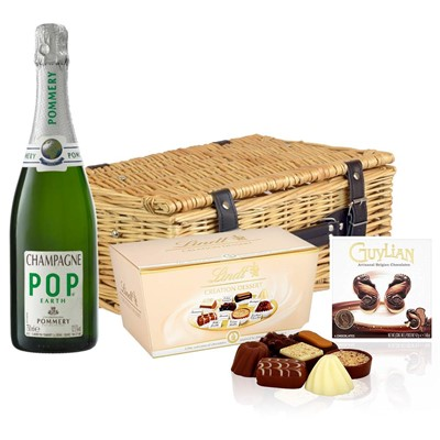 Pommery Pop Earth Champagne 75cl And Chocolates Hamper