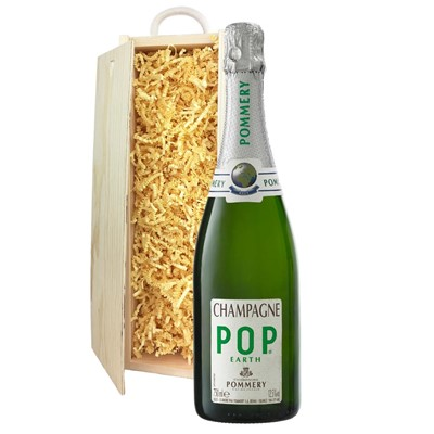 Pommery Pop Earth Champagne 75cl In Pine Gift Box