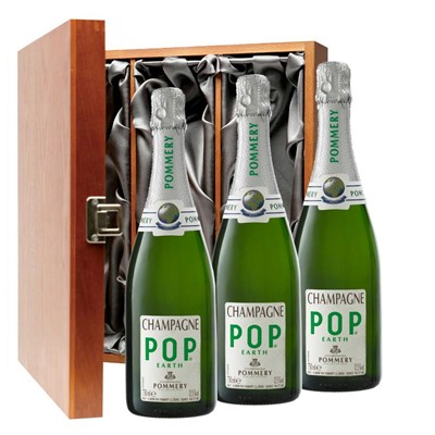 Pommery Pop Earth Champagne 75cl Three Bottle Luxury Gift Box