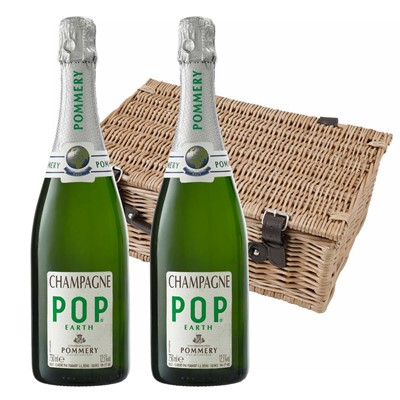 Pommery Pop Earth Champagne 75cl Twin Hamper (2x75cl)