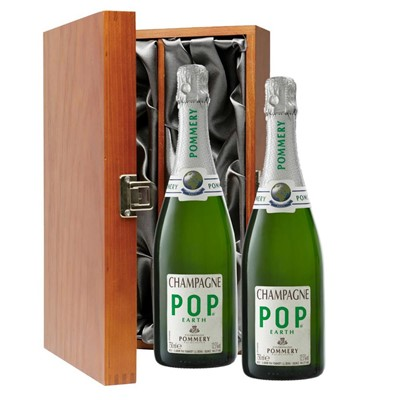 Pommery Pop Earth Champagne 75cl Twin Luxury Gift Boxed (2x75cl)