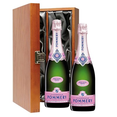Pommery Rose Brut Champagne 75cl Twin Luxury Gift Boxed (2x75cl)