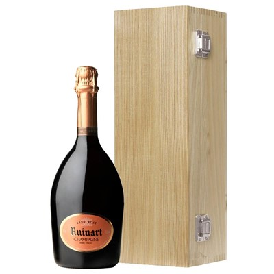 Ruinart Rose Champagne 75cl Oak Luxury Gift Boxed