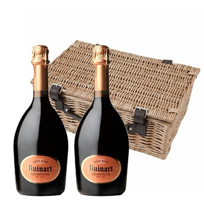 Ruinart Rose Champagne 75cl Twin Hamper (2x75cl)