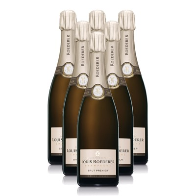 Buy Case of Twelve Louis Roederer Brut NV 75cl Bottles Bulk Packed in a single case. . Price includes free UK Mainland Delivery, and Exports and international delivery available.