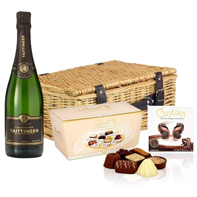 Taittinger 2013 Brut Vintage Champagne 75cl And Chocolates Hamper