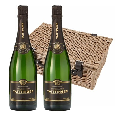 Taittinger 2013 Brut Vintage Champagne 75cl Twin Hamper (2x75cl)