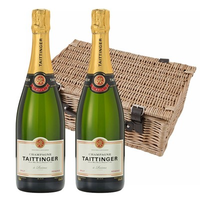 Taittinger Brut Reserve Champagne 75cl Twin Hamper (2x75cl)