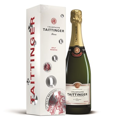 Buy Send a single bottle of Taittinger Brut Reserve NV Champagne 75cl Presented in a stylish Gift Box with Gift Card for your personal message, Taittinger have the reputation of one of the grandest Grande Marques. The taste is elegant with a unique flowery perfume all of its own. . Price includes free UK Mainland Delivery, and Exports and international delivery available.