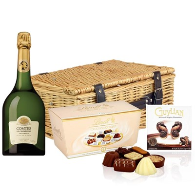 Taittinger Comtes Champagne 2007 75cl And Chocolates Hamper